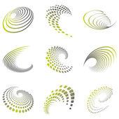 sada vlna pohybu symbolů