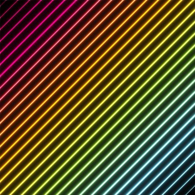 Contemporary background with rainbow neon colors