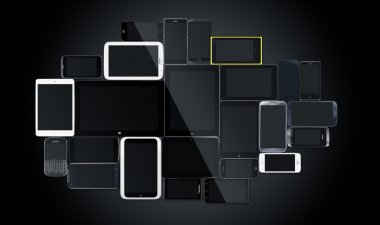 Mobile gadgets multi screen