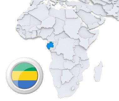 Gabon on Africa map
