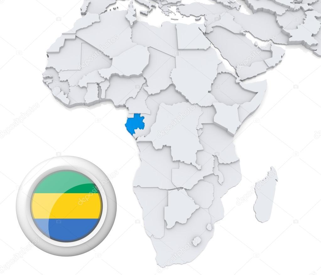 Gabon On Africa Map Stock Photo C Kerdazz7 28736201
