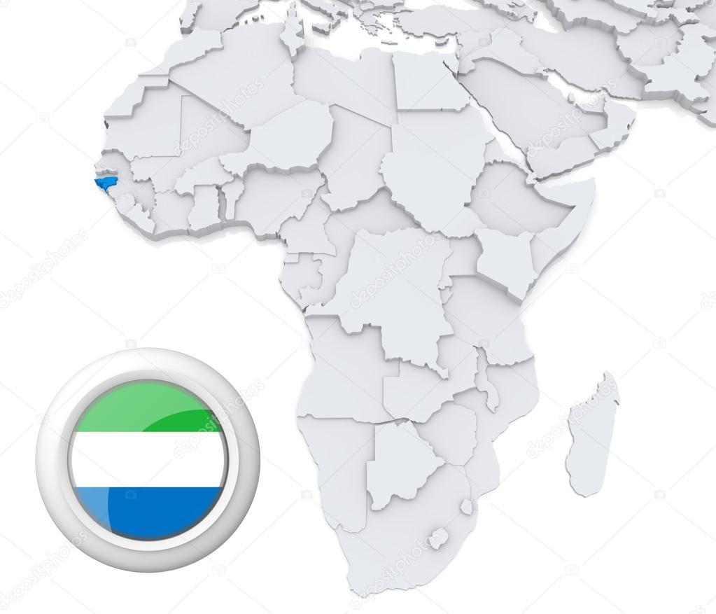 Sierra Leone on Africa map Stock Photo kerdazz7 28736897