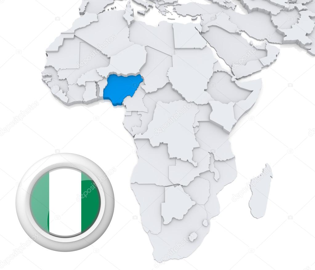 Map Of Africa Nigeria.Nigeria On Africa Map Stock Photo C Kerdazz7 28737991