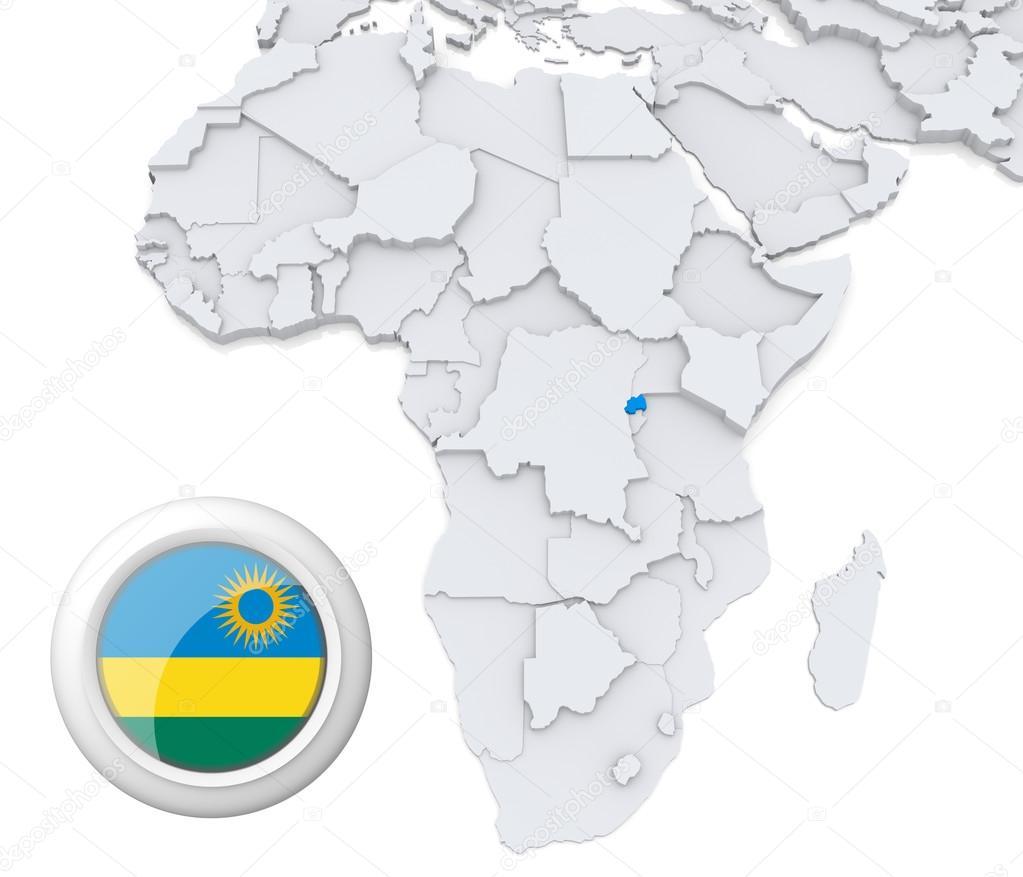 Rwanda On Africa Map Stock Photo C Kerdazz7 28738825