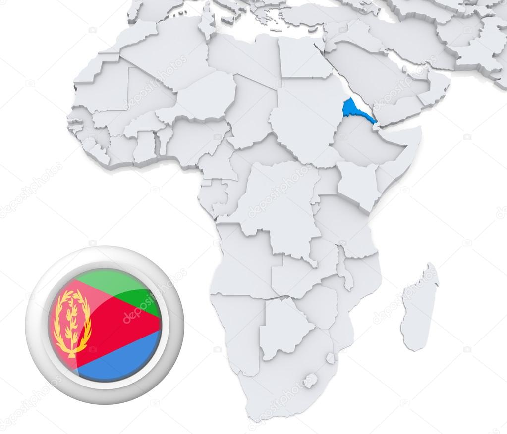 Eritrea on Africa map Stock Photo kerdazz7 28739027