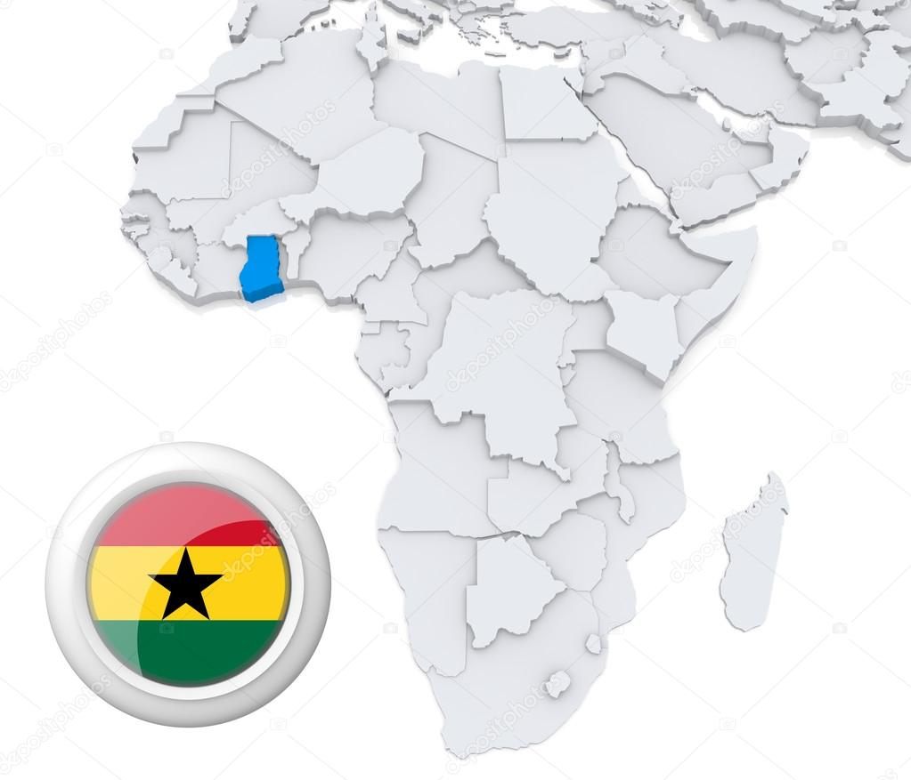 Ghana In Africa Map.Ghana On Africa Map Stock Photo C Kerdazz7 28739227