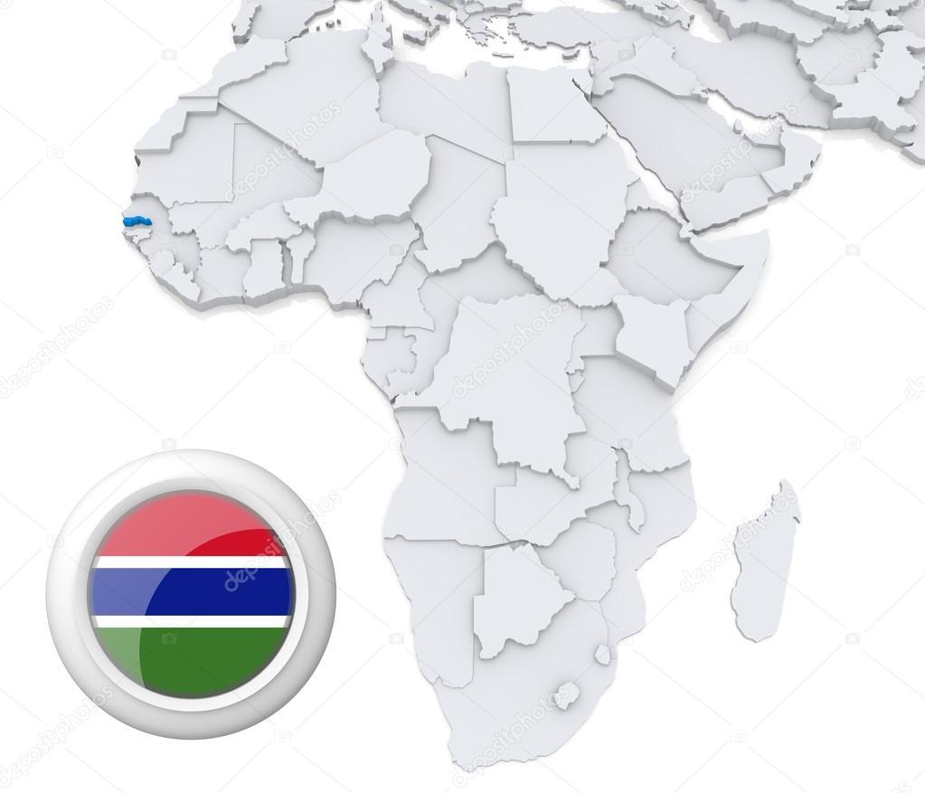 Gambia On Africa Map.Gambia On Africa Map Stock Photo C Kerdazz7 28739429
