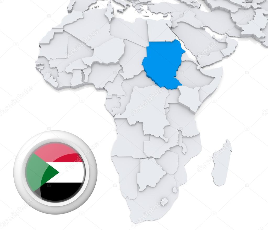 Sudan on Africa map — Stock Photo © kerdazz7 #28739957