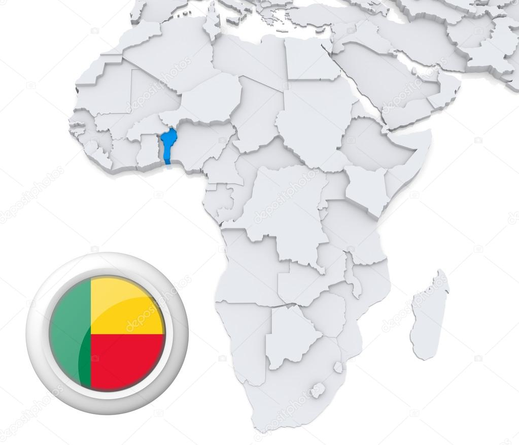 Benin Map In Africa.Benin On Africa Map Stock Photo C Kerdazz7 28740137