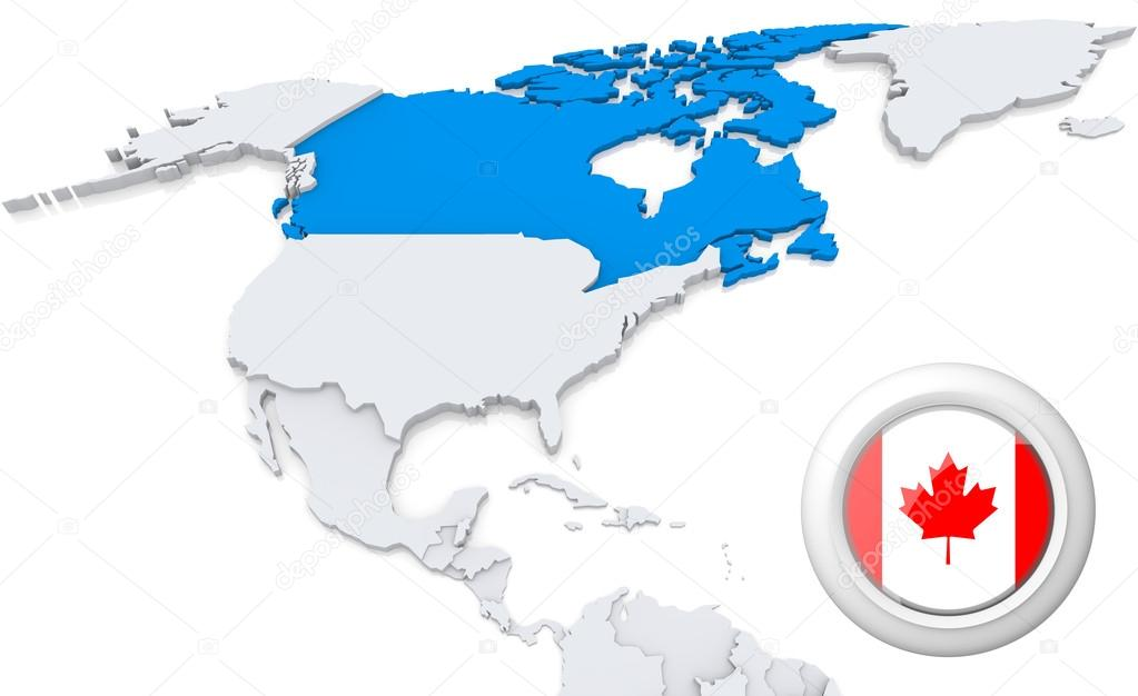 Canada on a map of north america stock photo kerdazz7 29155171 highlighted canada on map of north america with national flag photo by kerdazz7 gumiabroncs Images