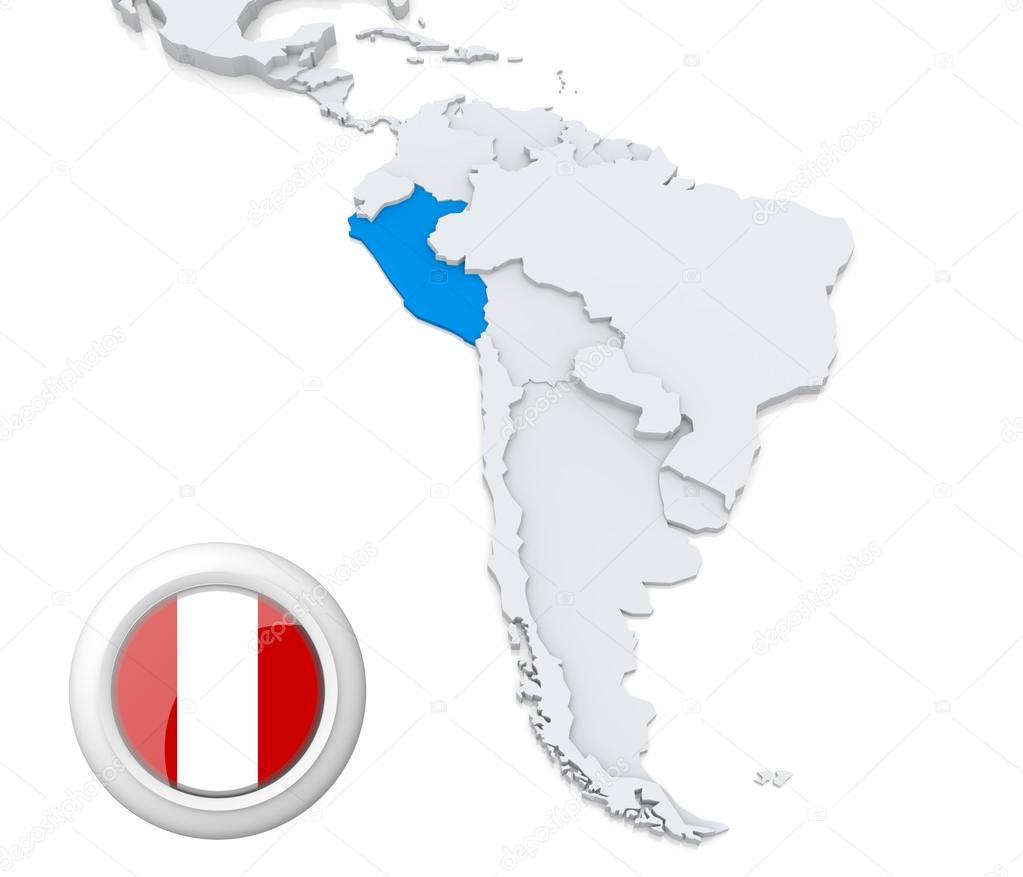 Peru Karte Südamerika.Peru Auf Einer Karte Von Südamerika Stockfoto Kerdazz7 29448209