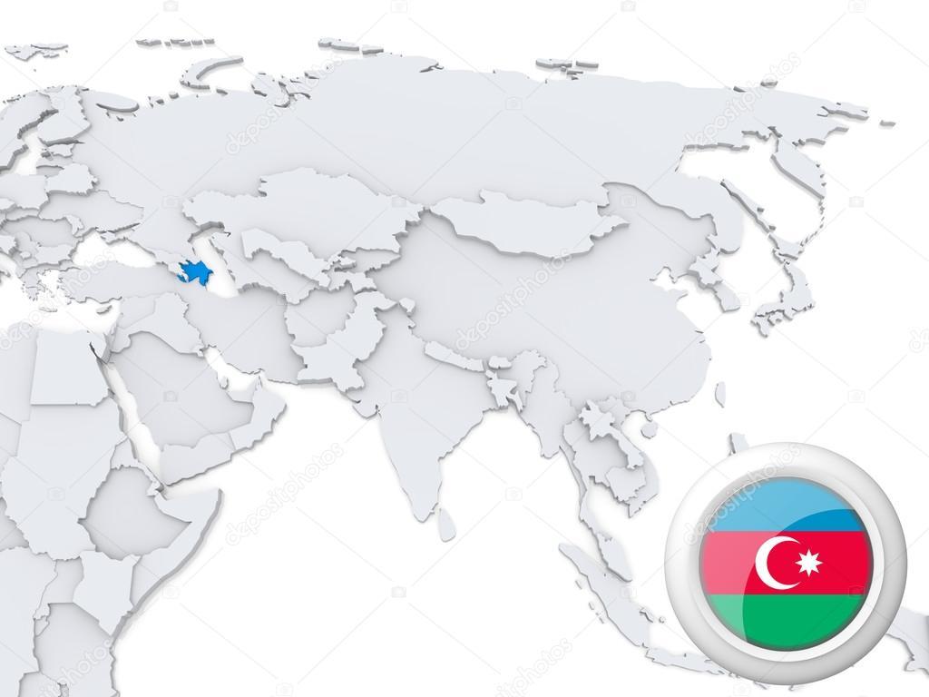 Picture of: Azerbaijan On Map Of Asia Stock Photo C Kerdazz7 31363601
