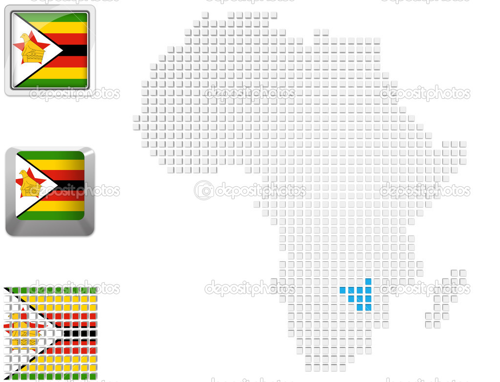 Zimbabwe no mapa da frica stock photo kerdazz7 45118085 zimbabwe no mapa da frica fotografia de stock ccuart Images