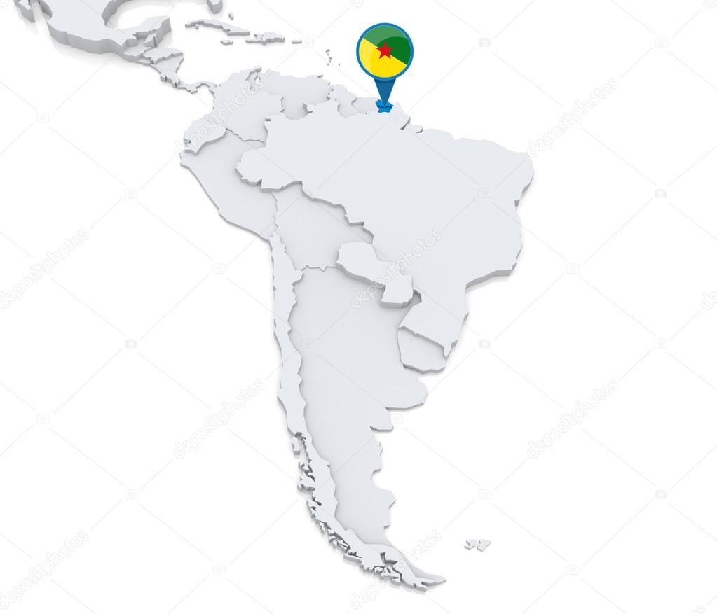 Carte De Lamerique Du Sud En Francais.Francais De Guyane Sur Une Carte De L Amerique Du Sud