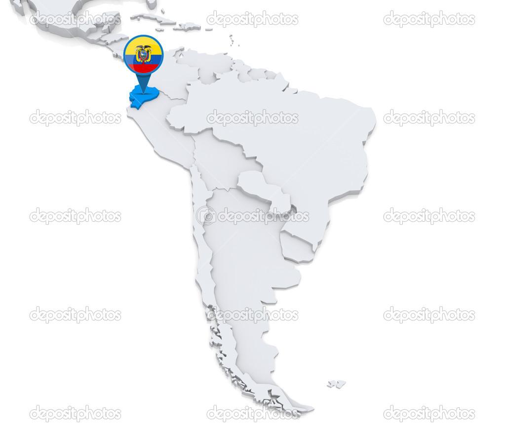 Ecuador en el mapa de am rica del sur fotos de stock for Marmol donde se encuentra