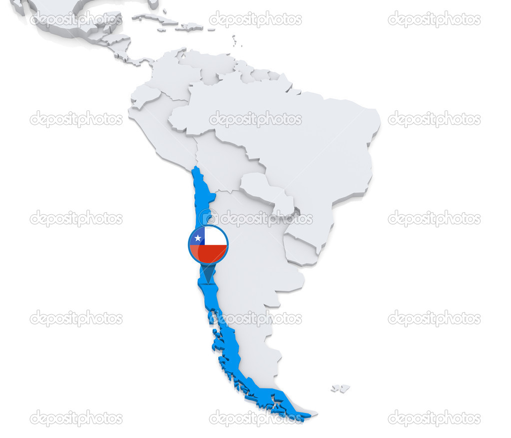 Chile on a map of South America Stock Photo kerdazz7 50416285