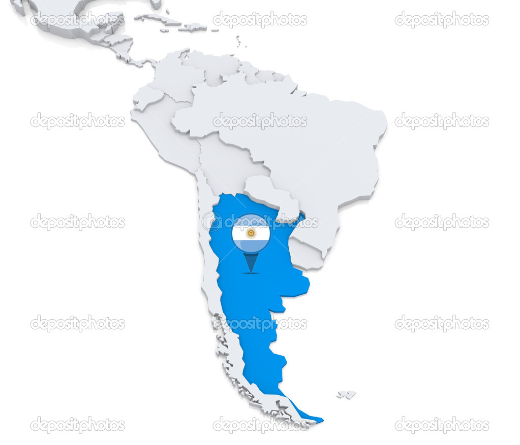 Argentina On A Map Of South America Stock Photo Kerdazz - Argentina map download