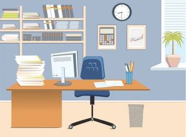Interior office room.Vector illustration