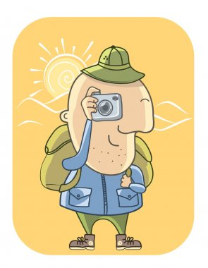 Tourist with camera.