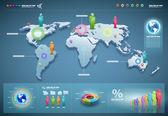 Vector world infographics set.
