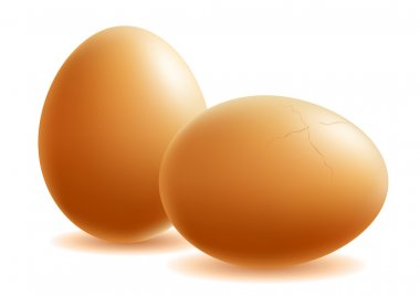 two eggs.