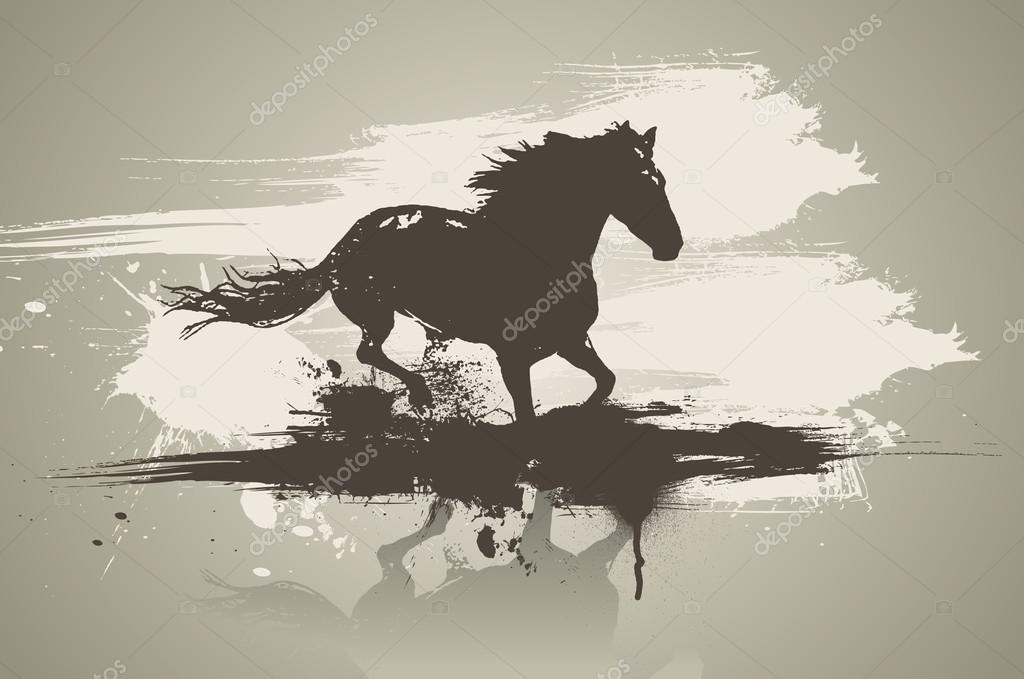 Artistic horse illustration