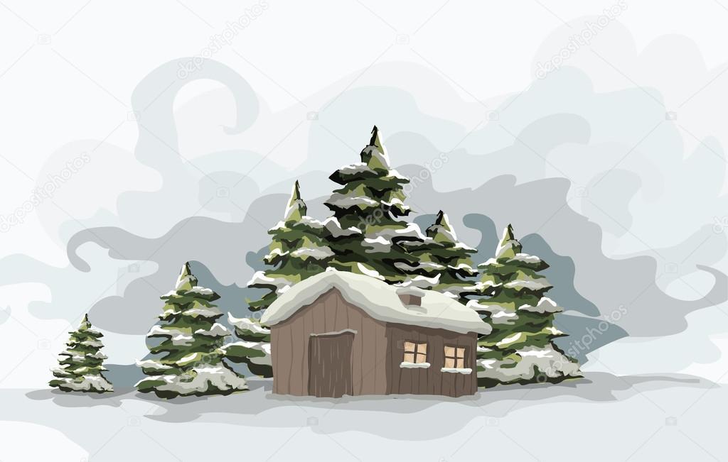 Snowly winter day.