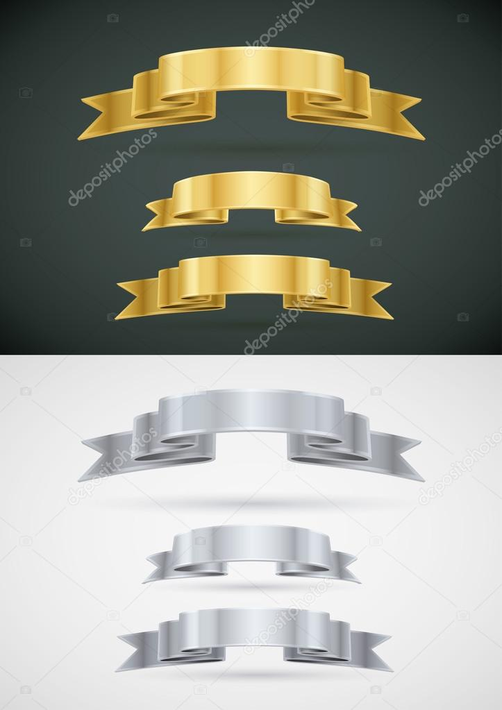 Vector Ribbon Banner Set