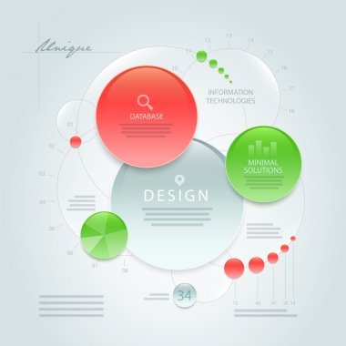 Vector abstract information design template