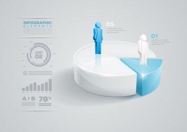 Pie chart infographic design