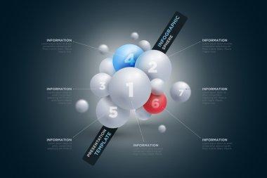 Sphere infographics template