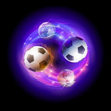 World soccer circle.