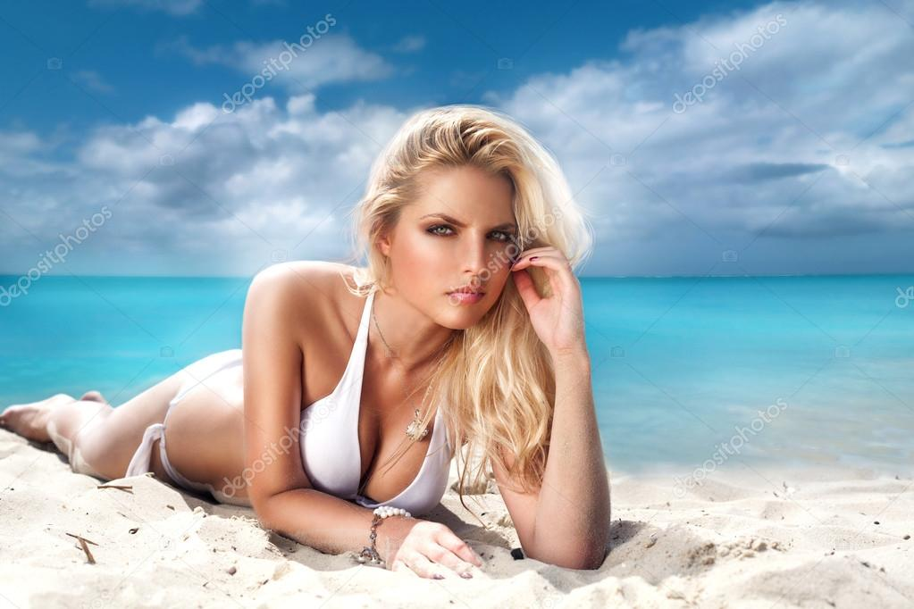 Sexy girl  on a beach