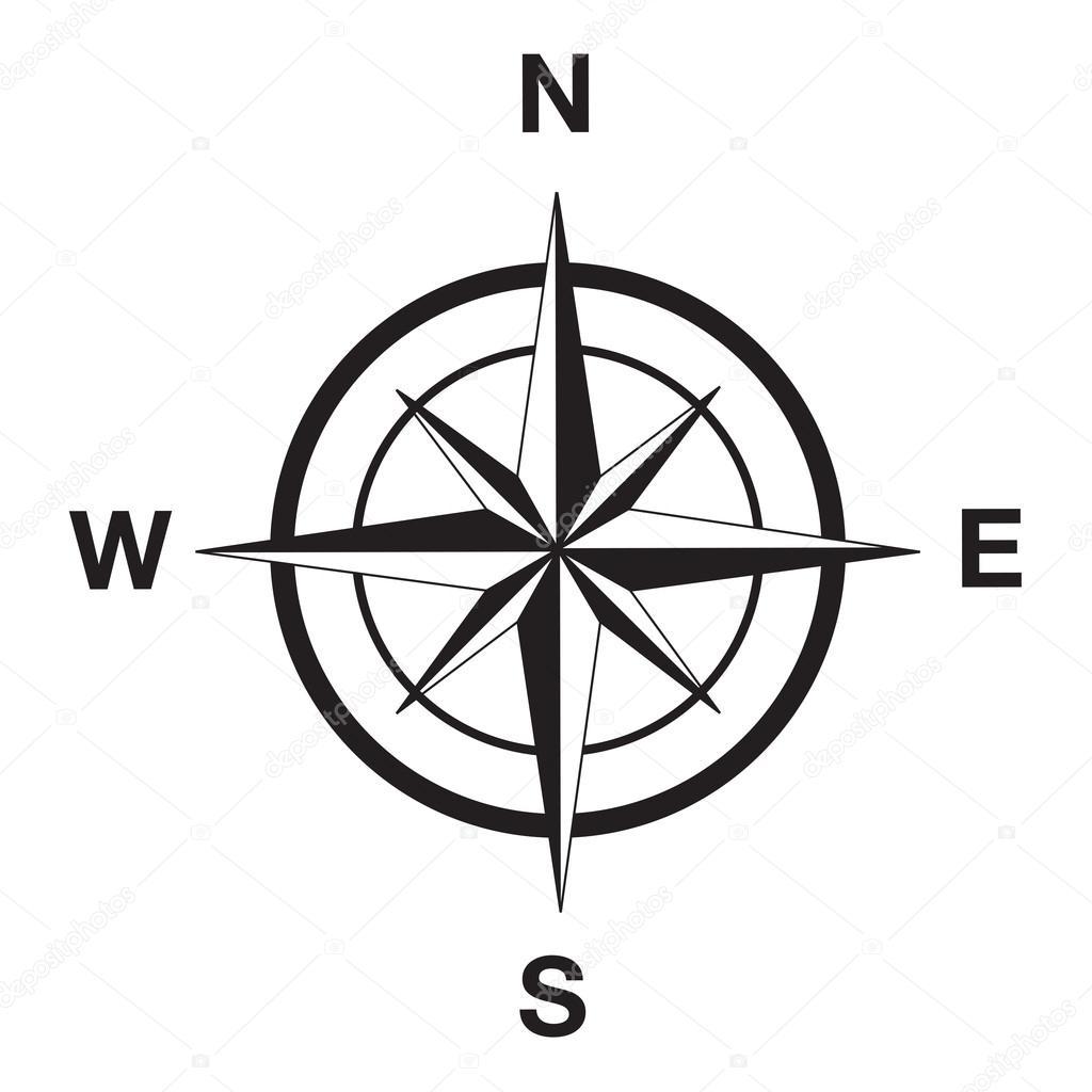 Compass silhouette in black — Stock Vector © davesdisco1 ...