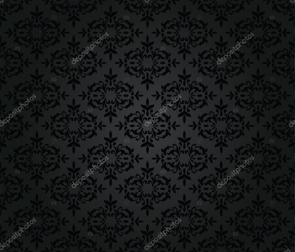 depositphotos 22923648 stock illustration seamless black floral damask wallpaper