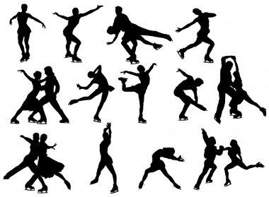 Ice skater illustration stock vector