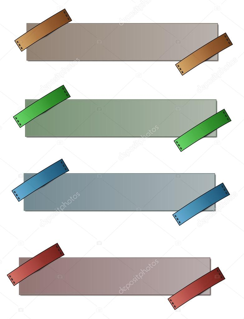 blank labels - four colors — Stock Photo © muuraa #22936040