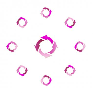 gradient circle arrows