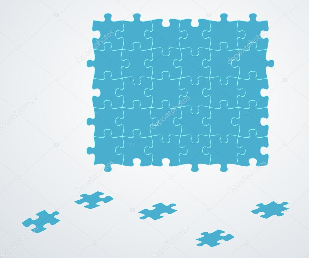 piezas del puzzle azul — Vector de stock © muuraa #40451279