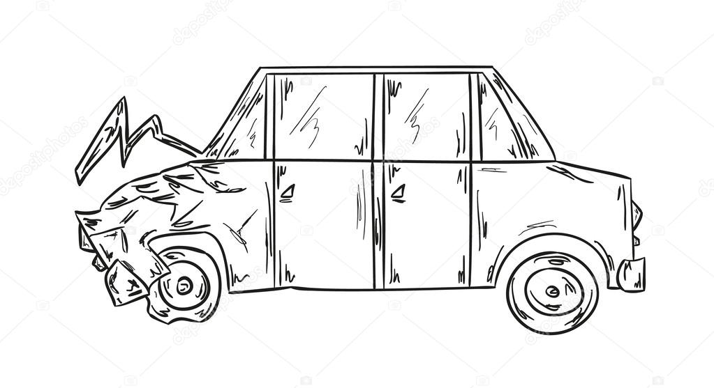 car accident — Stock Vector © muuraa #45218805