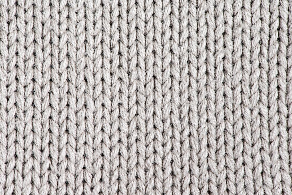 Close Up Photography Of Gray Knit Textile: White Knitting Wool Texture Background.