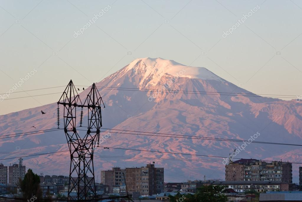mount Ararat as seen from Yerevan