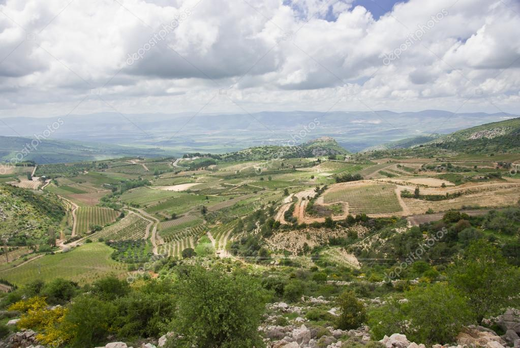 view of the golan heights and the Galilee - northern israel