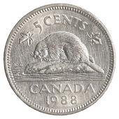 öt kanadai cent érme