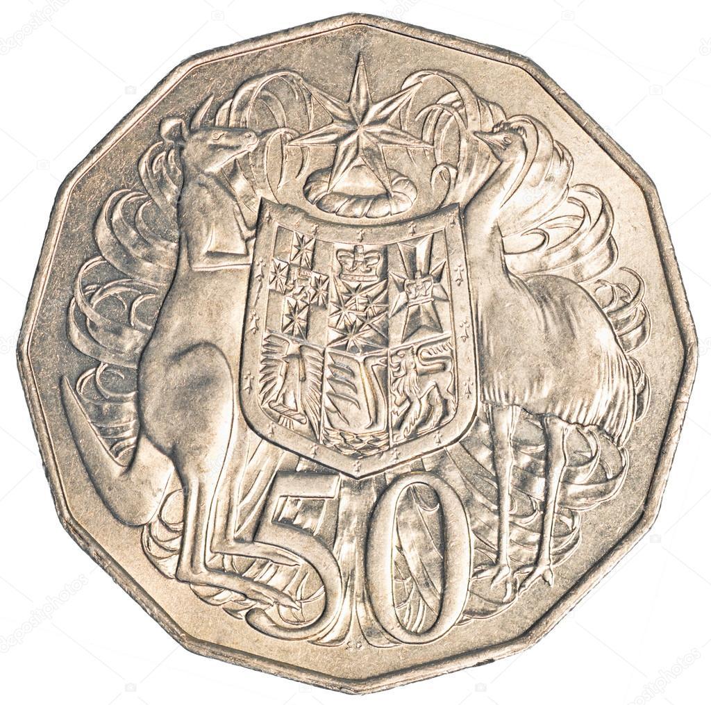 Halbe Australische Dollar Münze Stockfoto Asafeliason 23802089