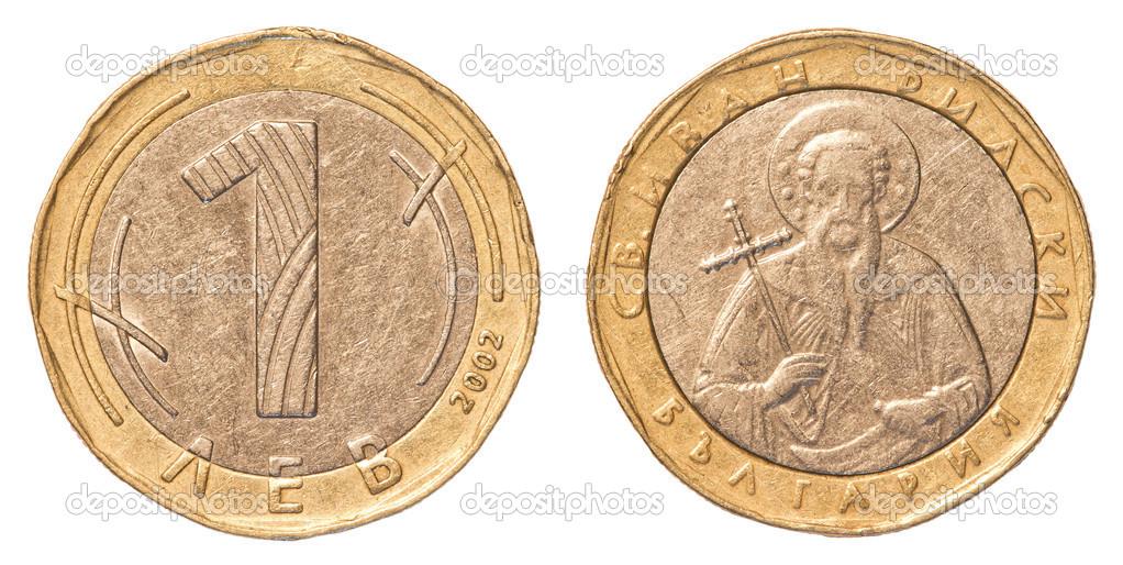Eine Bulgarische Lewa Münze Stockfoto Asafeliason 23805431