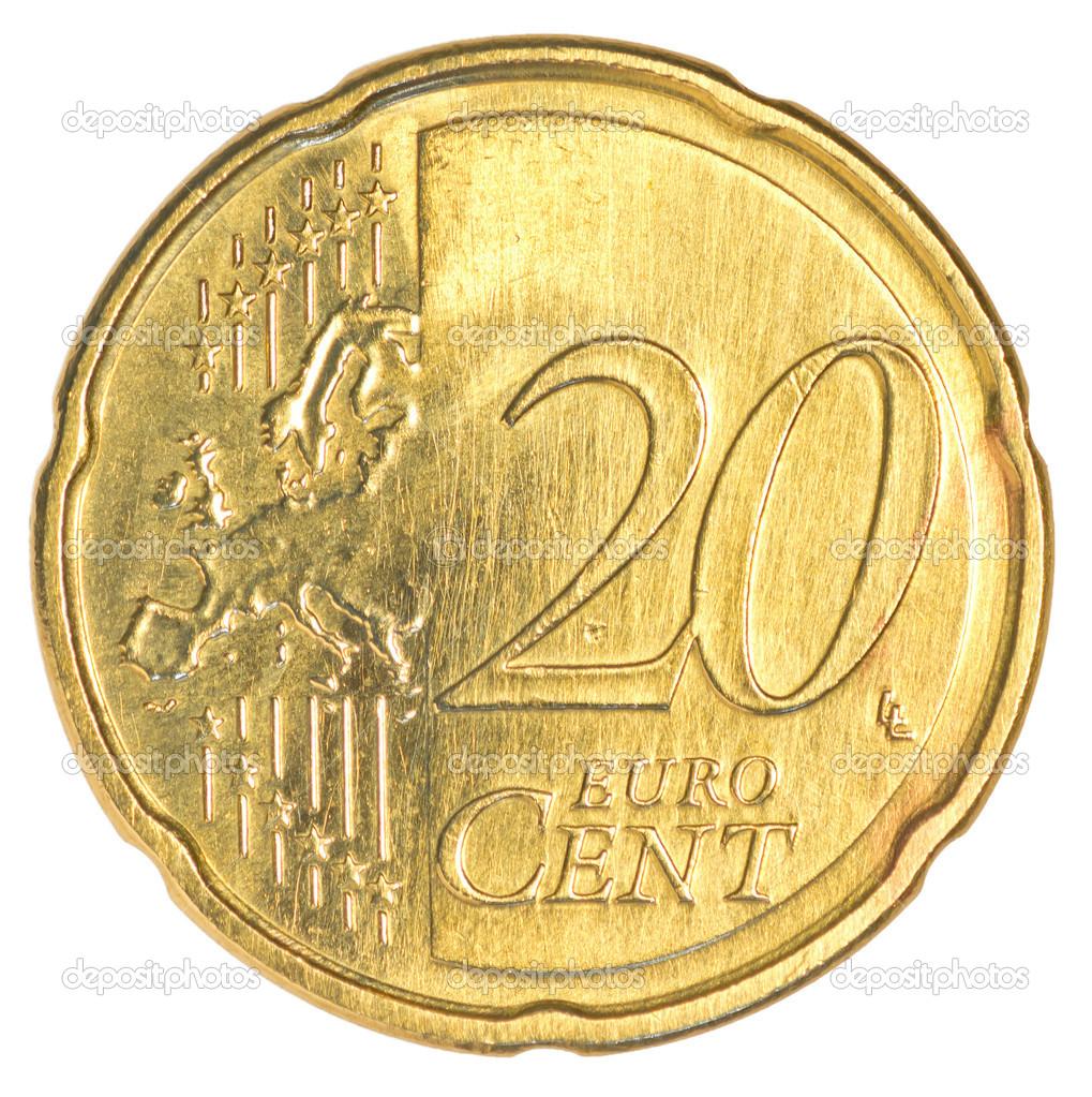 20 Euro Cent Münze Stockfoto Asafeliason 23812817