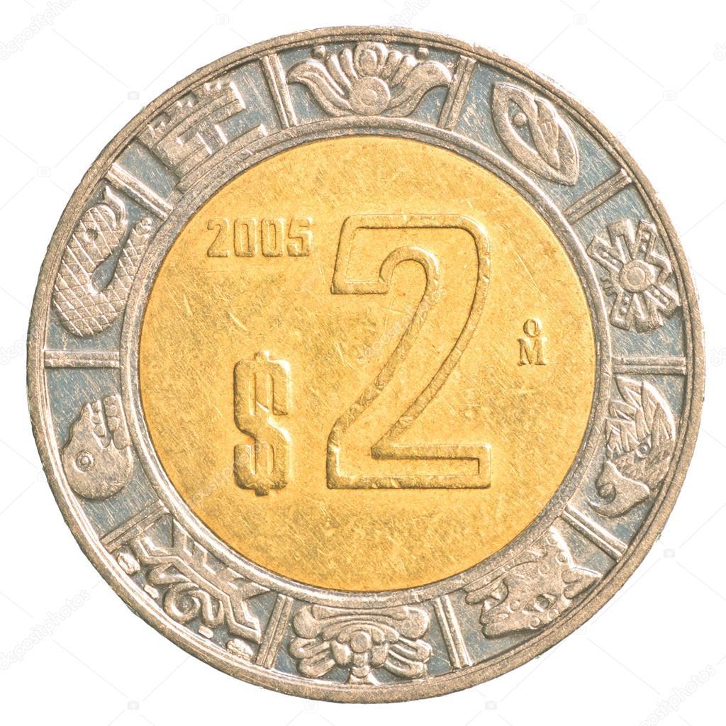 2 Mexican Peso Coin Stock Photo Asafeliason 23859135