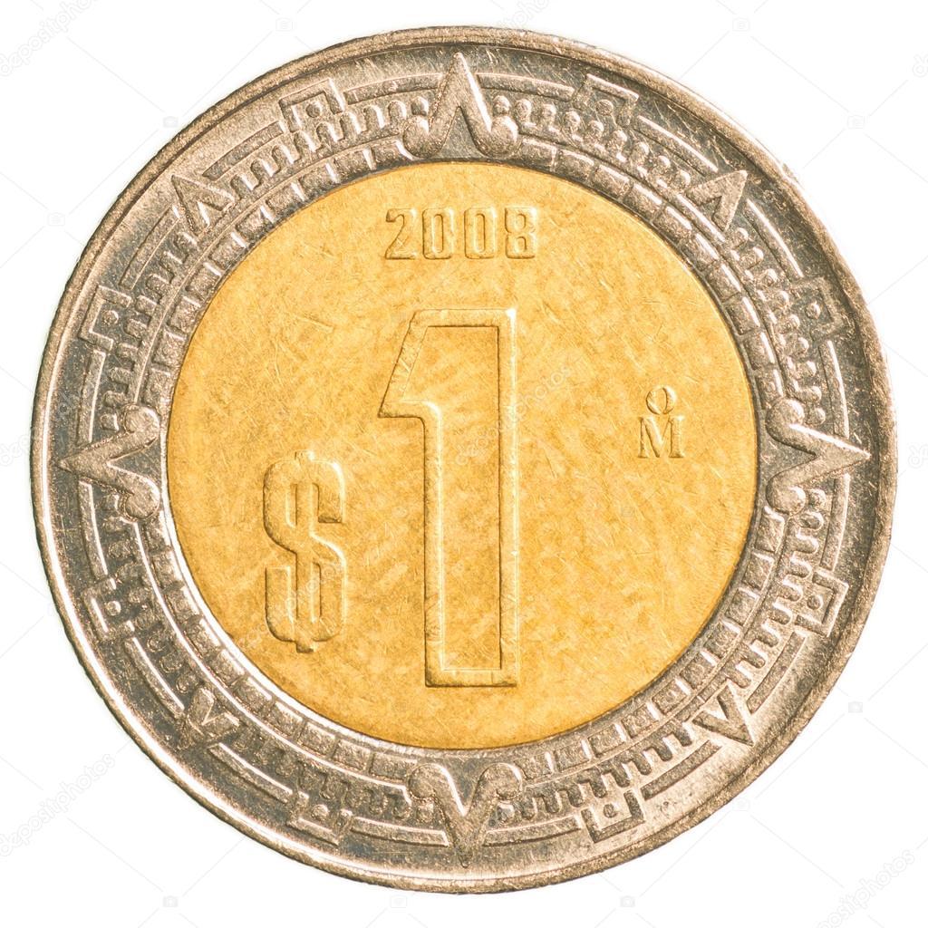 One Mexican Peso Coin Stock Photo Asafeliason 23859215