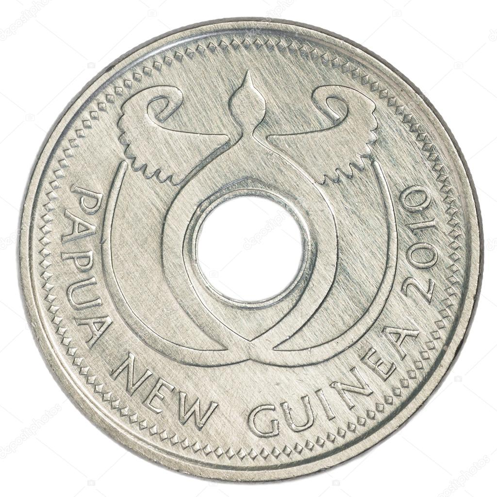 Eine Münze Auf Papua Neuguinea Kina Stockfoto Asafeliason 23860241
